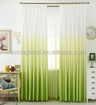 plastic curtain for kitchen gradient ramp color print sheer curtain