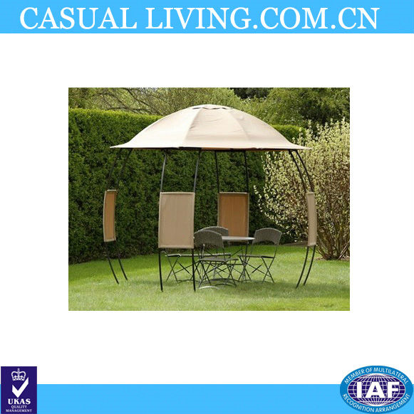Cheap Gazebos Rain Gutters Small And Round Roof Shape
