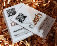 thick transparent white printed business card with QR code(M-PC010)