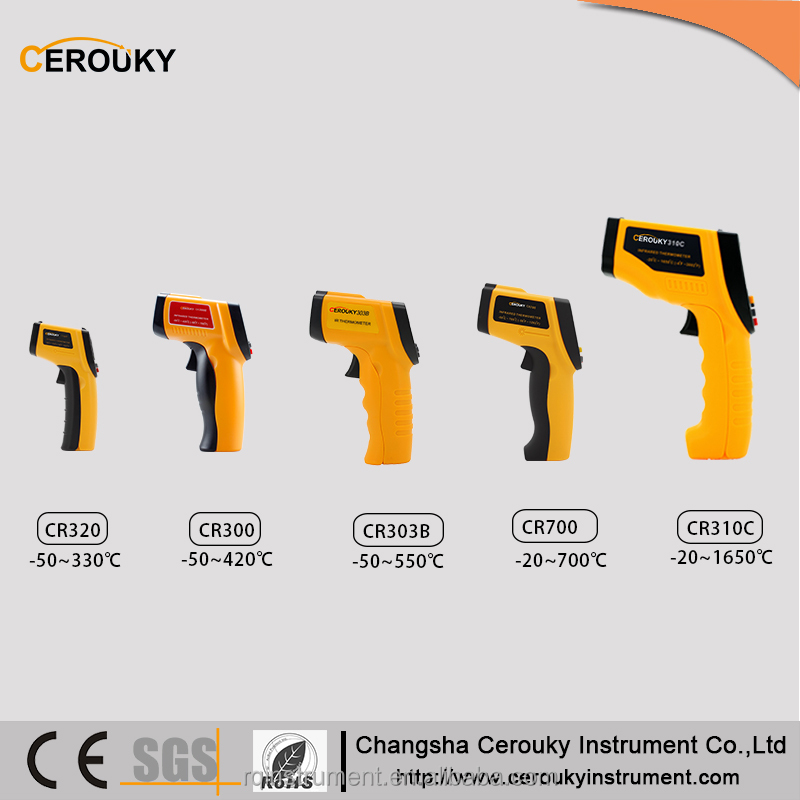 380 550 degrees Celsius industrial digital custom laser Non-contact infrared thermometer