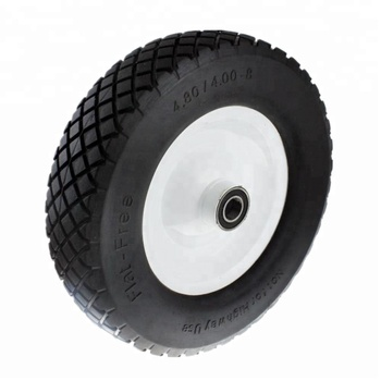 16 inch Wheelbarrow Wheel Flat Free Tire 400-8 PU Foam Wheel