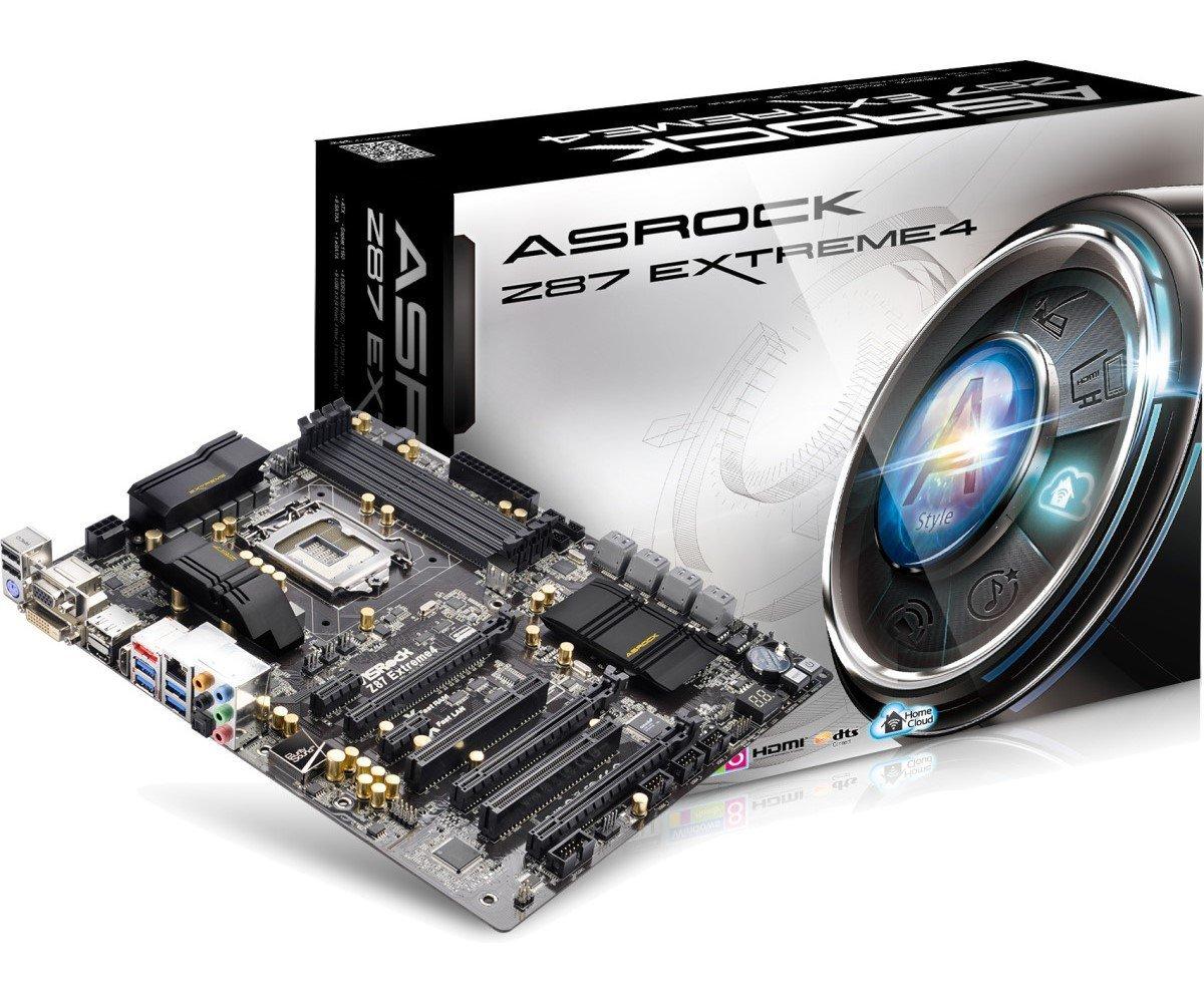 ASRock LGA1150/Intel Z87/DDR3/Quad CrossFireX and Quad SLI/SATA3 and USB 3.0/A&GbE/ATX Motherboard Z87 EXTREME4