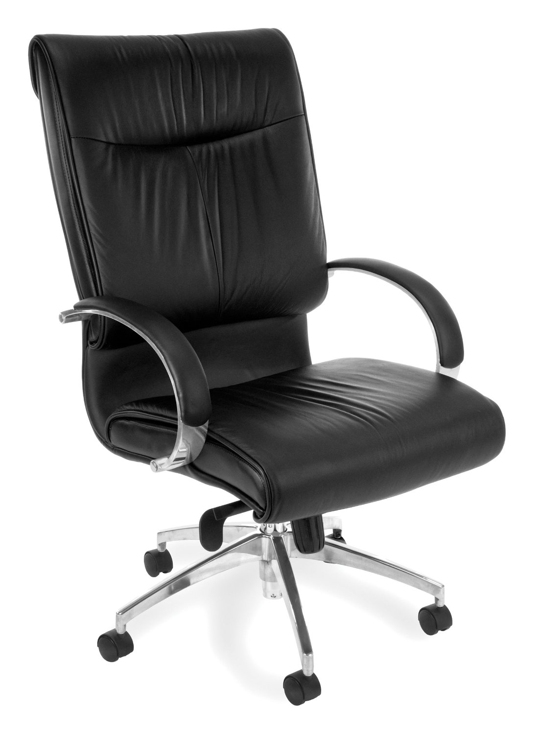 OFM Sharp Series Hi-Back Executive Leather Chair - High Back Ergonomic Office Chair (510-L)