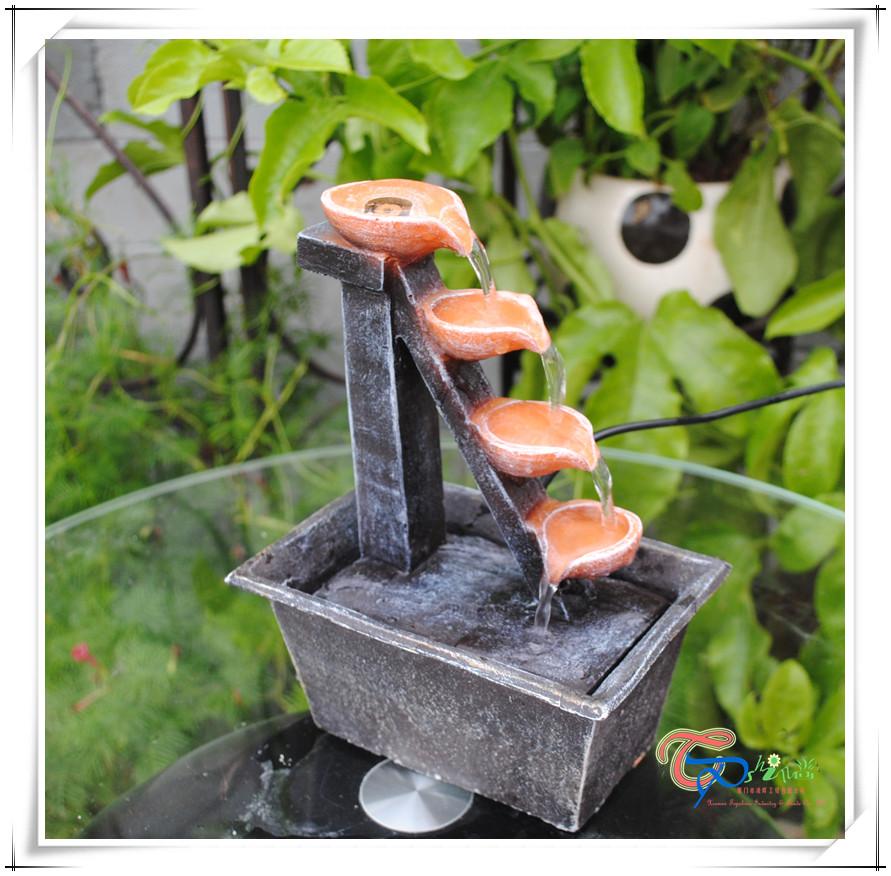 fuente de agua de mesa de resina al por mayor de interior
