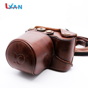 PU leather camera bag for Pentax QS1 Q-S1 Camera 5-15mm Lens W/ Strap brown