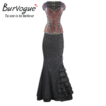 Long Mermaid Skirt Steampunk Bodycon