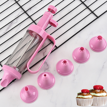 6 piece nozzle piping tip plastic cake decorating tips