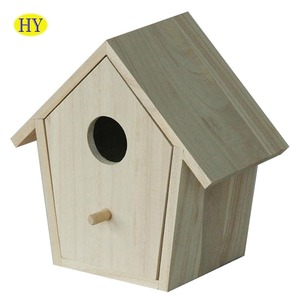 FSC unfinished drawer type wood bird house