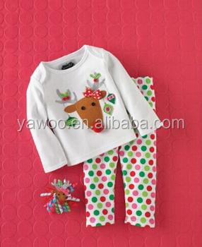 Hot Sale Fashion Christmas Custom Design Baby Clothes Newyear