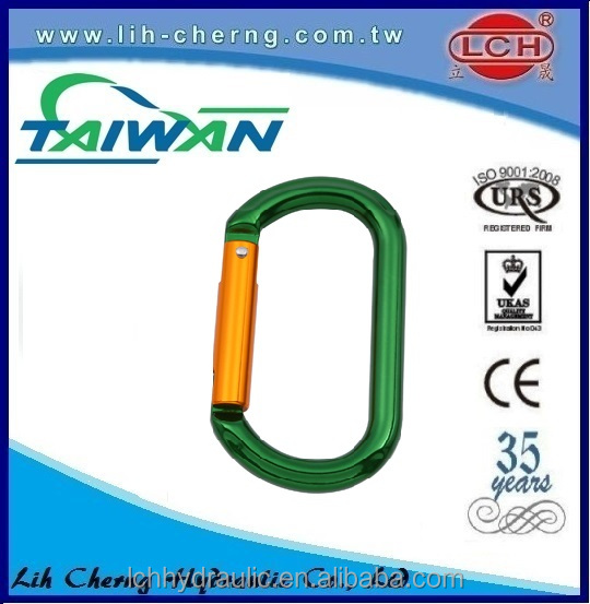 Customize din5299 aluminum carabiner hook with screw clip with screw din 5299 carabiner hook