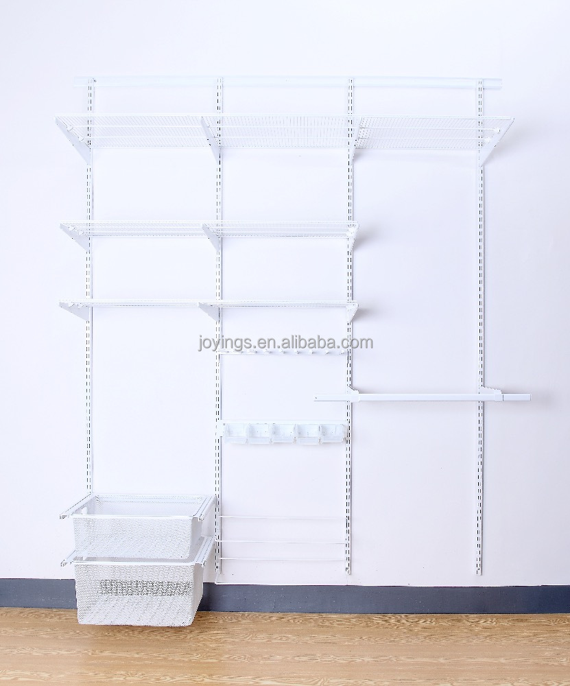 Adjustable Closet Organizer System <strong>Steel</strong> Frame Space Saving Closet Storage Wardrobe System