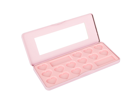 Hot Sale Rectangular 6pcs ODBO Cosmetic Brush Set Tin Box packaging