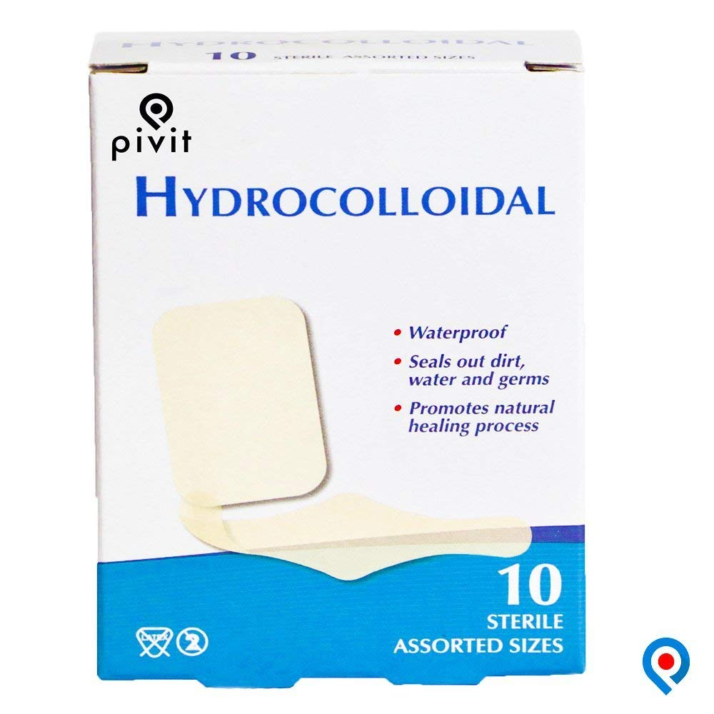 Camping & Hiking 2 X 2 Inch Sterile Hydrocolloid Bordered Wound Dressing First Aid Patch For Wound Care And Blisters