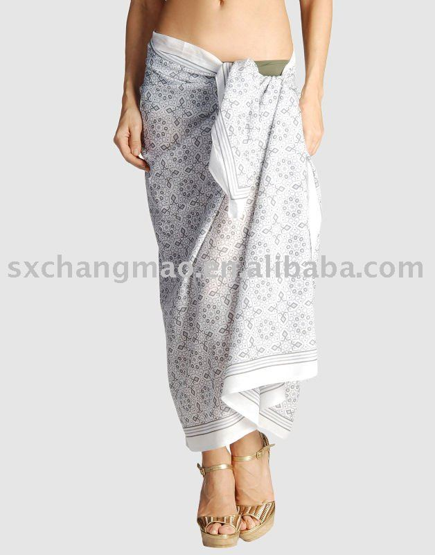 plain color rayon sarong