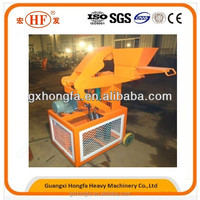 Using clay,soil, and cement, HONGFA HF1-10 interlocking block making machine