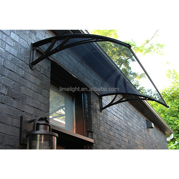 polycarbonate awning with plastic frame and clear polycarbonate panel for home window awning and door canopy in the USA