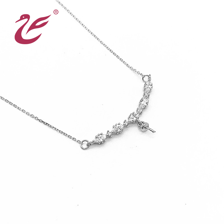 2019 new style jewelry necklace silver long chain necklace for ladies