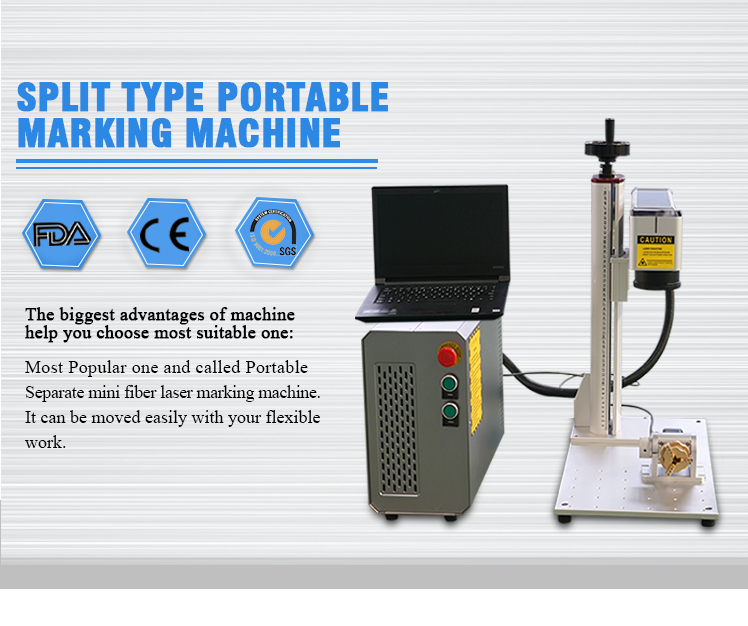 20w masaüstü mini fiber lazer işaretleme makinesi için bıçak metal