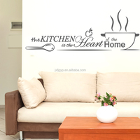 China factory supply creative art black words removable wall stickers in kitchen