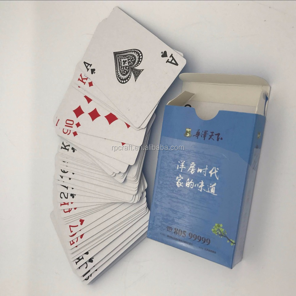 Custom paper playing cards, full color paper palying cards for advertising