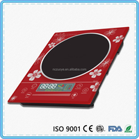 Chinese impress kitchen cooking electric induction cooker red crystal plate