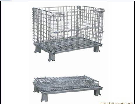 Foldable Galvanized Wire Mesh Container Made in China