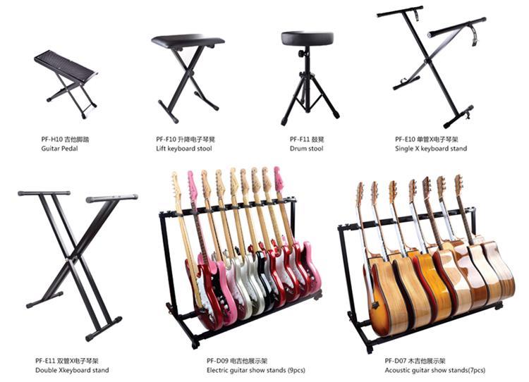 China atacado instrumentos musicais stand / stand de música grande barato