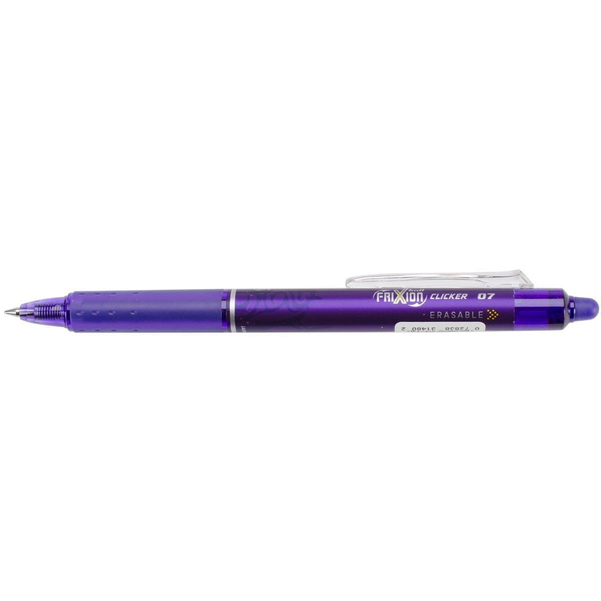 Pilot Pen Pilot Frixion Clicker Erasable Fine Point Pen, Purple(Pack of 12)