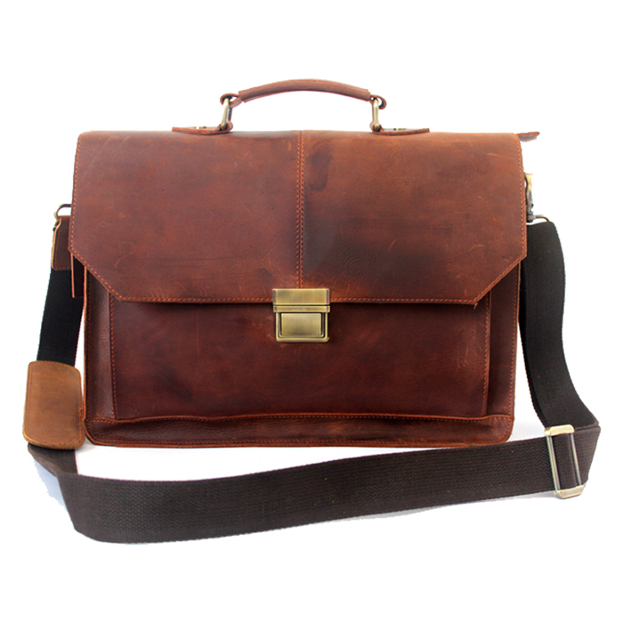7aeea164bf Get Quotations · In 2015 The new Casual Man Briefcase Crazy Horse Leather  briefcase Men and Women Briefcase Portable