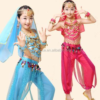 1a1d7d41ab32 BestDance Kids Girls Belly Dance Costume Indian Dance Performance Clothing  Costumes Dancewear