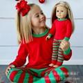 Baby Boys Girls Christmas Pajamas Kids Long Sleeve Xmas PJS Cotton Pajamas Children Clothing Set Pajama