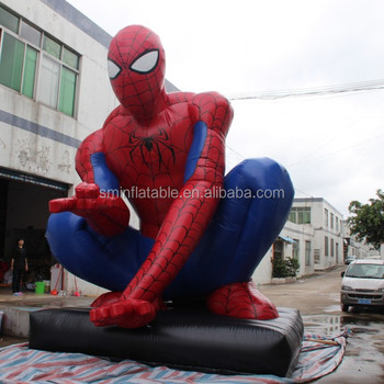 advertising inflatable super spider man character
