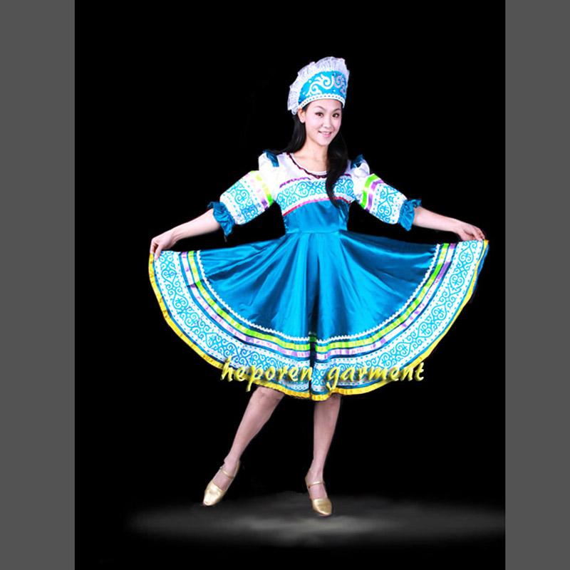 High Quality Custom Made Russian Folk Dance Costume Dress