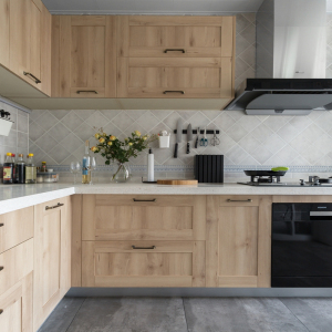Wooden Modular New Model Kitchen Cabinet