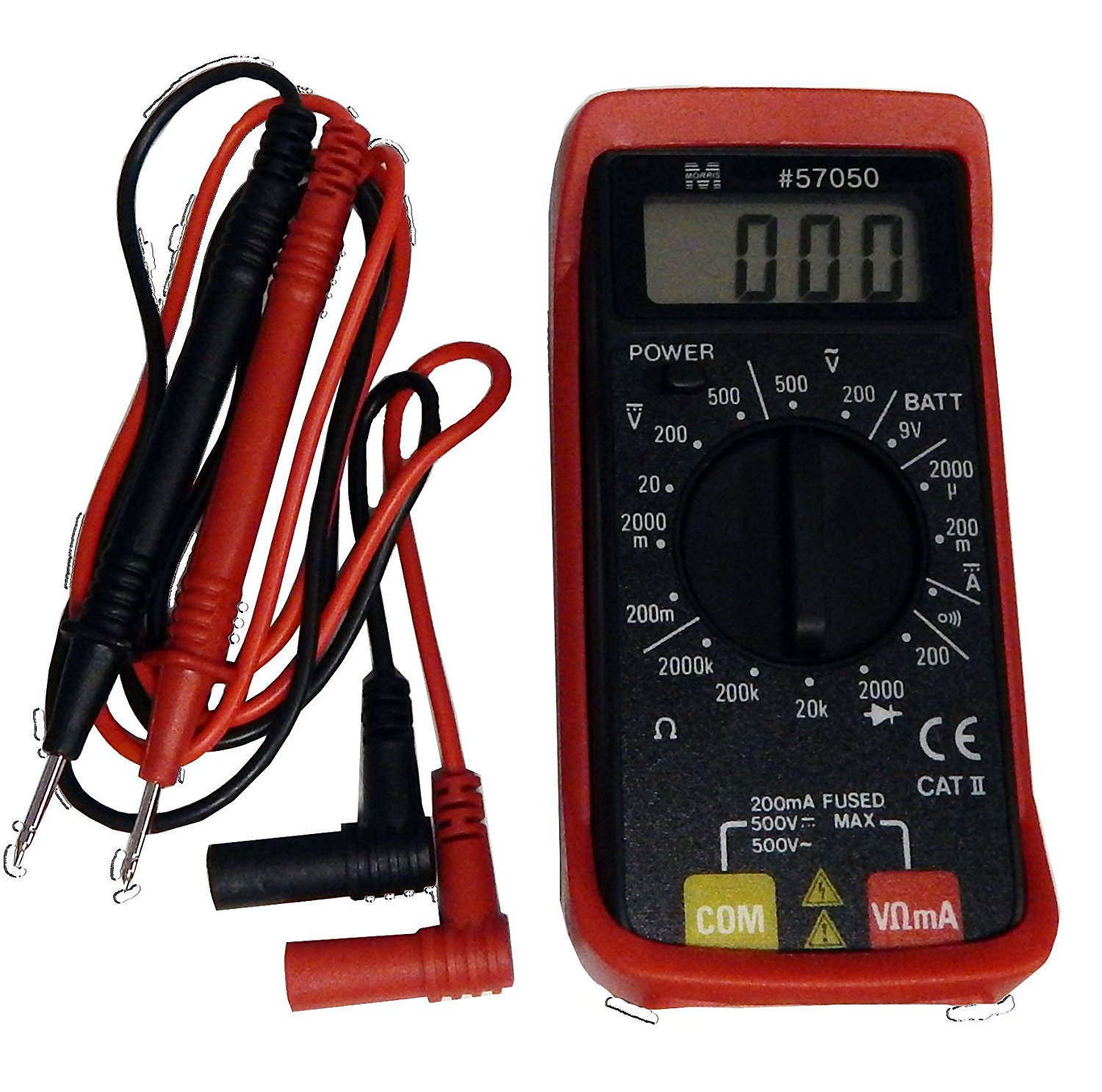 Morris Products 57050 Super Mini Digital Multimeter with Rubber Holster