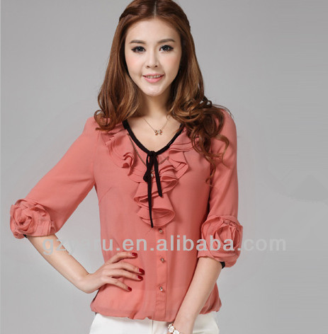 Korean Style Tops / China Women's Clothing Manufacturer