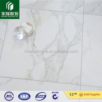 Full Polished Marble Look White Calacatta Porcelain Tile