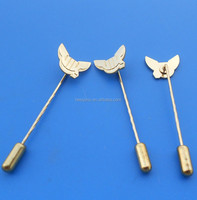 Metal,Zinc Alloy, Brass, Iron, etc Material and Souvenir Use custom long needle hat pins