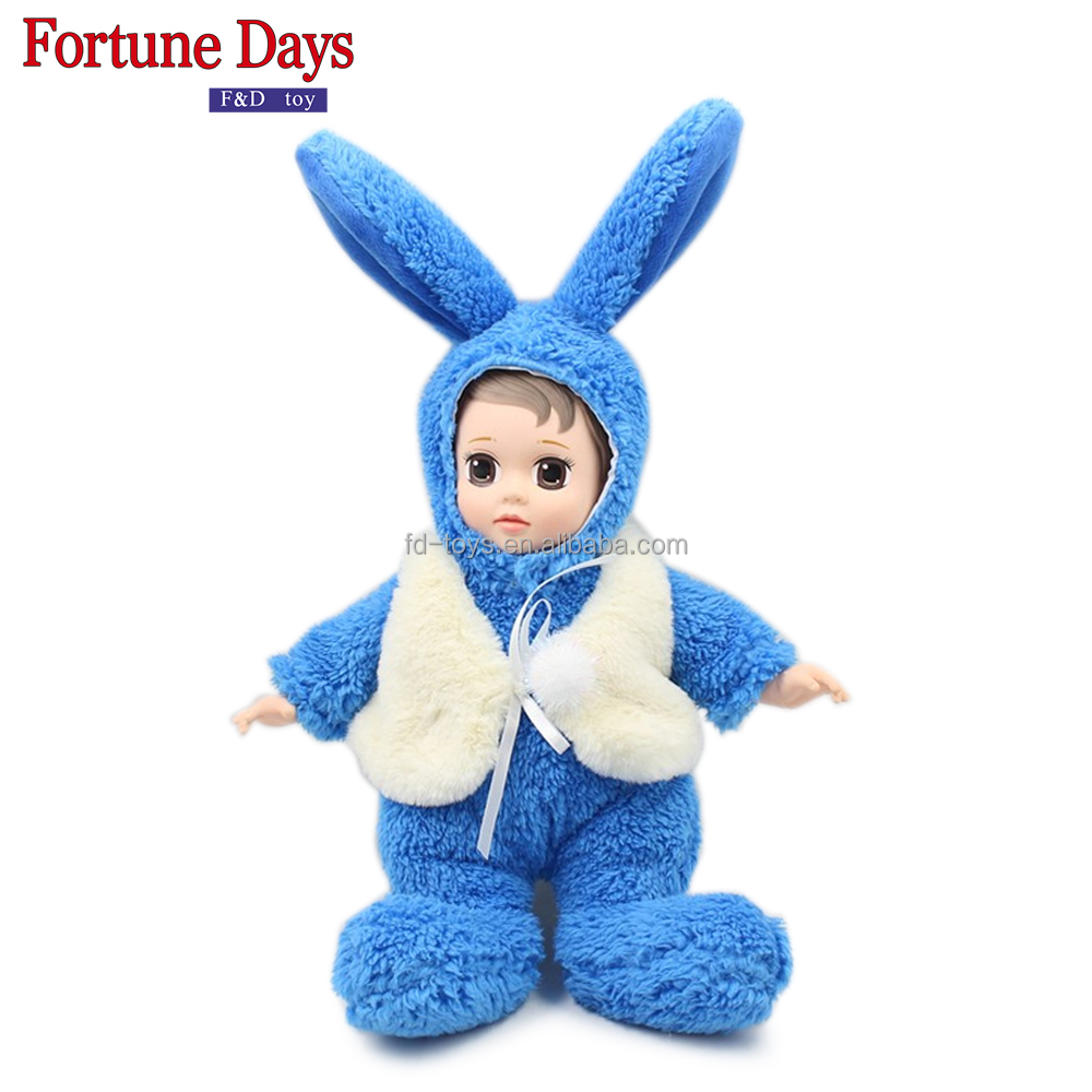 (YW-XR170101) Wholesale <strong>rabbit</strong> plush stuffed baby doll manufacturers china