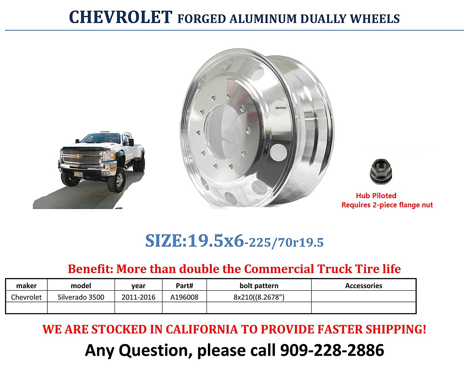Cheap Chevy 210 Parts Find Deals On Line At Alibabacom Bel Air 57 Tailgate Diagram Get Quotations 2011 2016 Gmc 3500 Dually Pcd8x210 A196008 Aluminum Wheels 195 X