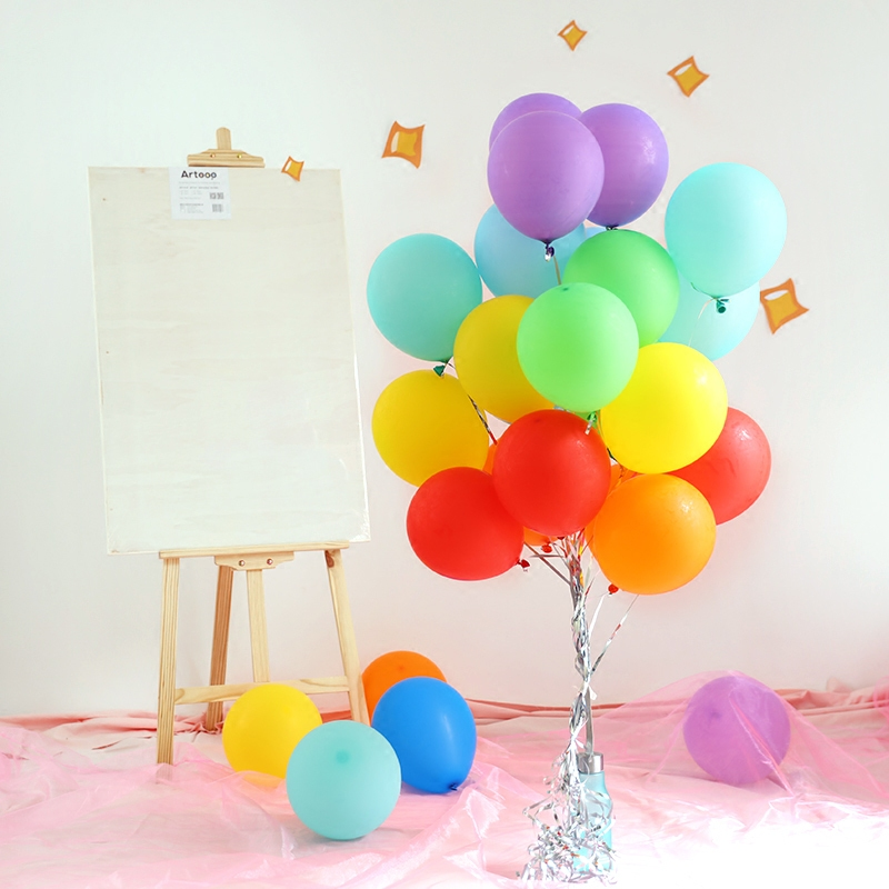 12 28g Oval Shape Latex Balloons For Boy And Girl Baby Birthday Party