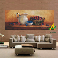 Printed Classical Still Life Oil Painting On Canvas Printed Warm Color Canvas Painting Art Prints for Kitchen Free Sample
