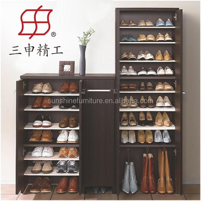 Barato e1 mdf madera organizador de zapatos cerrados rack for Armario para zapatos barato