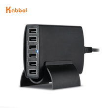 Mobiel Charger 40 W/8A 6-Poorten Draagbare Desktop Smart USB Opladen Station Docking Hub voor Telefoon, galaxy, <span class=keywords><strong>Camera</strong></span>, Power banken