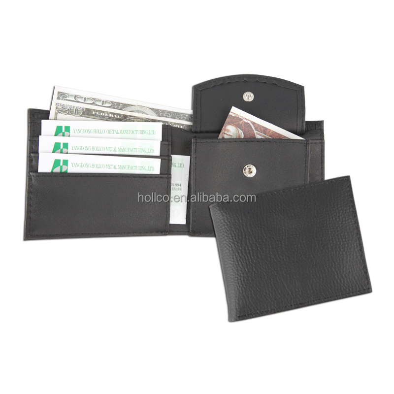 High-end China Split Leather Bifold Wallet with coin pocket