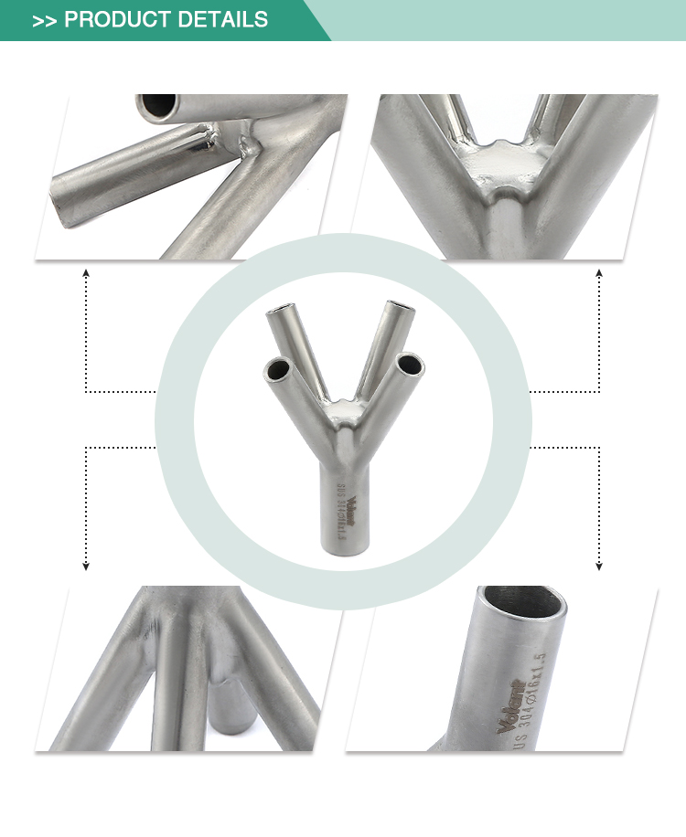 Reasonable structure durable stainless steel butt weld hygienic pipe fitting