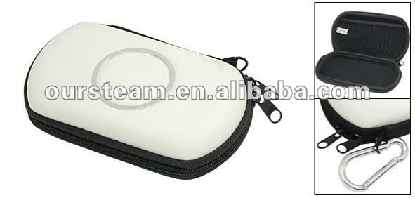 White Travel Carry Bag Hard Case Pouch For Sony PSP GO