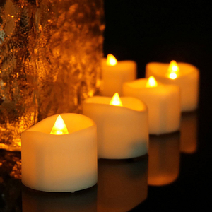 Battery LED Flameless Yellow Flickering Flashing Tea Light Candle