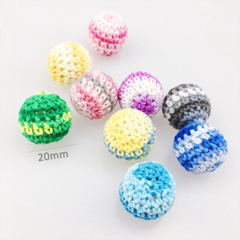 20mm Wooden Mix Color Crochet Round Beads Teething Accessories For Baby  Teether - Buy 20mm Wooden Beads,Teething Beads,Crochet Beads Product on