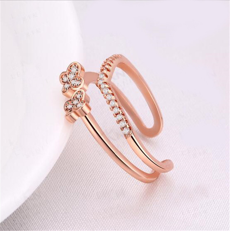 2018 New Arrivals Latest Gold Finger Ring Designs Fashion Butterfly ...